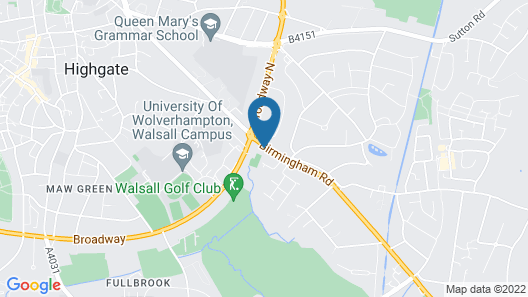 Metro Inns Walsall Map