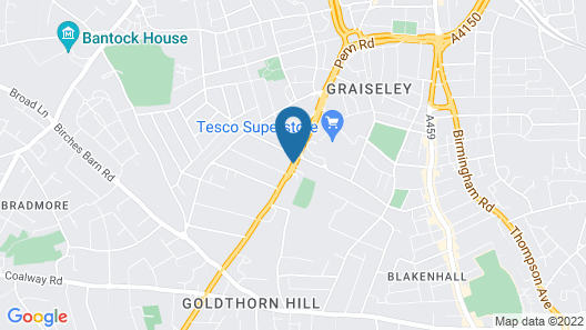 Wolverhampton Goldthorn Hotel Map