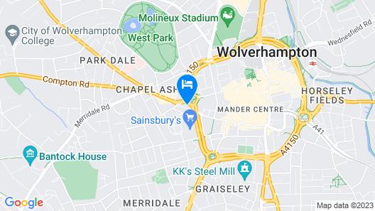 Executive 2-bed Apt -wolverhampton + Free Parking Map
