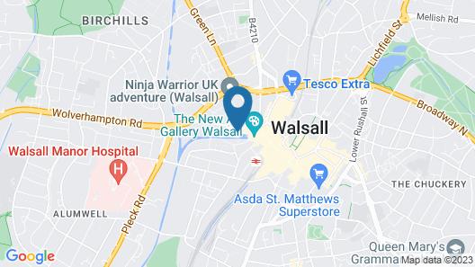 Premier Inn Walsall Town Centre Map
