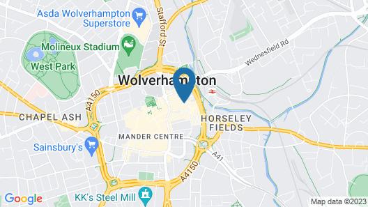 Britannia Hotel Wolverhampton Map