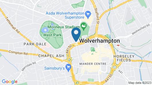 Redwings Lodge Wolverhampton Map