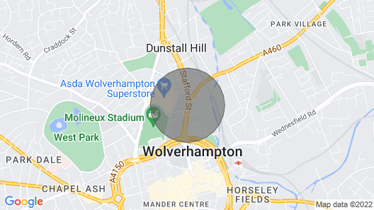 2 Bedrooms Apartment near  Molineux  Stadium and City Centre Map
