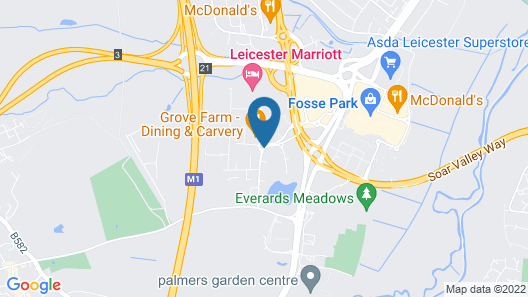 Leicester Marriott Hotel Map