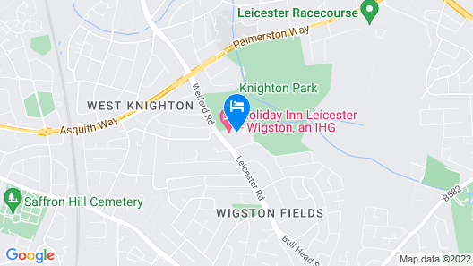 Holiday Inn Leicester - Wigston Map