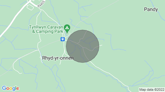 Snowdonia lodge with sea and mountain views Map