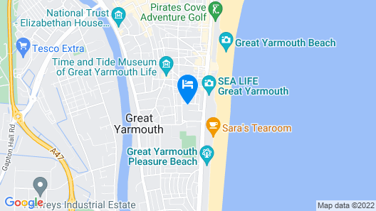 Comfort Hotel Great Yarmouth Map