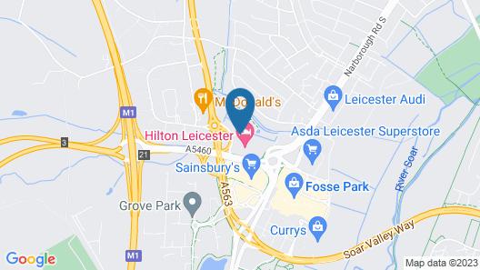 Hilton Leicester Map