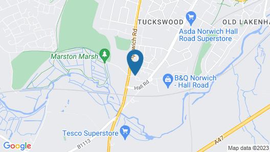 Holiday Inn Norwich Map