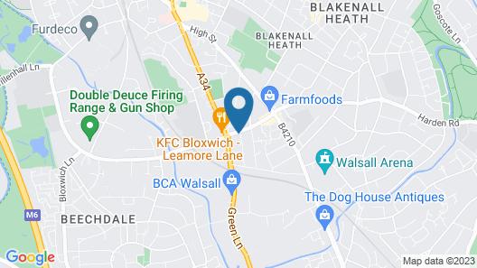 Homestay in Walsall Map