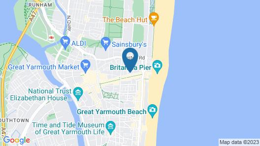 OYO Studiotel Great Yarmouth Map