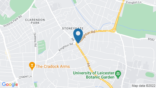 Flexistay Leicester Gables Aparthotel Map