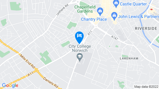 Best Western Annesley House Hotel Map