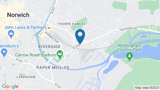 Holiday Inn Norwich City Map