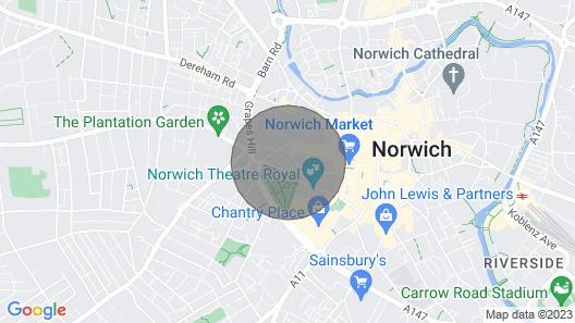 Norwich City Centre Apartments Map