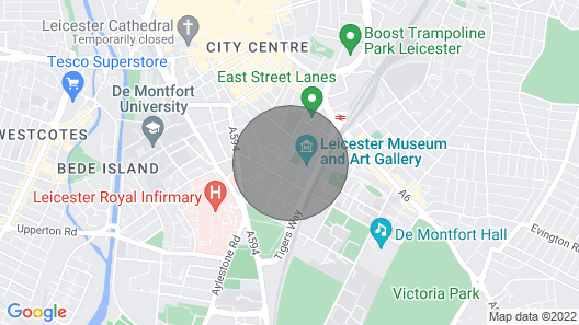 Stunning 1 Bedroom Apartment Leicester City Centre Map