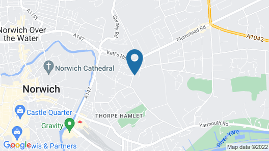 Hamlet's Rest - Central Norwich Accommodation Map