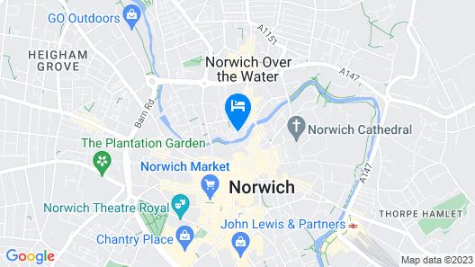 Simple City Centre Flat Near River  Map