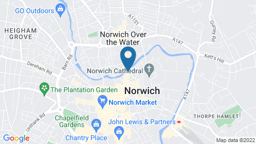 Stay Norwich River View Map