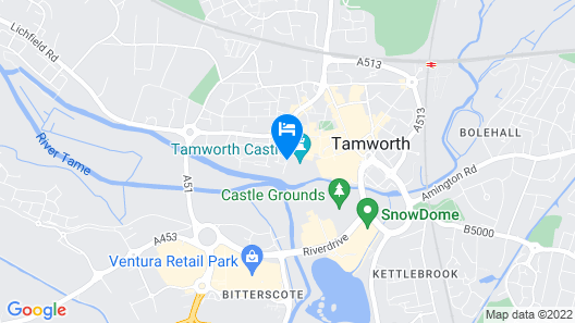 The Castle Hotel Tamworth Map