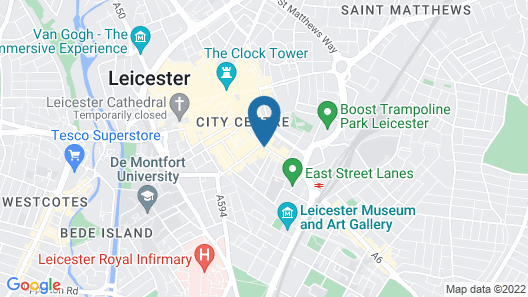 Mercure Leicester The Grand Hotel Map