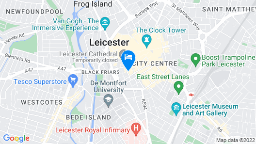 Heart of Leicester Pad Map