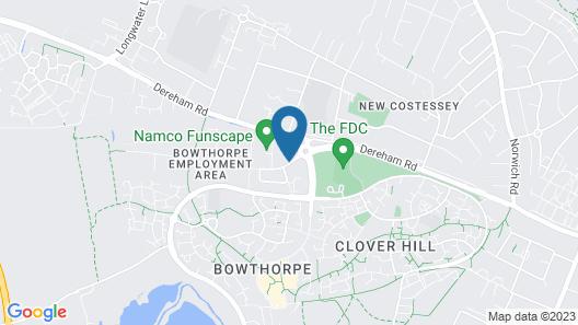 Best Western Brook Hotel Norwich Map