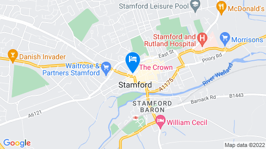 Crown Hotel Stamford Map
