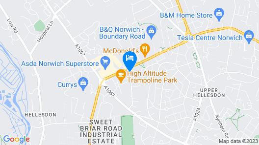 Mercure Norwich Hotel Map