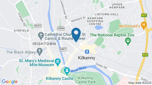 Classy 2 bed 2 Bath in Heart of Kilkenny City Centre Map