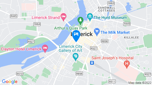 The George Limerick Hotel Map