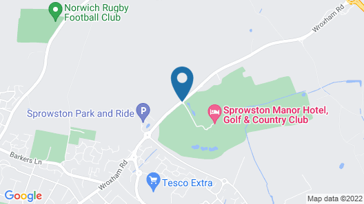 Sprowston Manor Hotel, Golf & Country Club Map