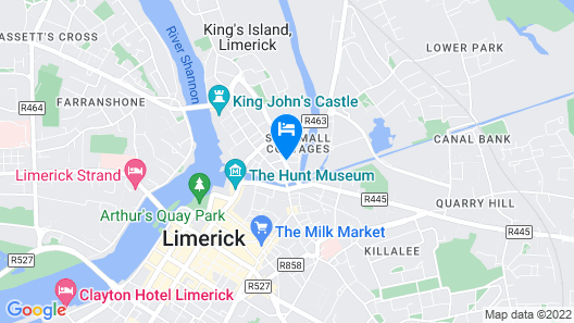 Absolute Hotel Limerick Map