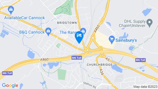 Holiday Inn Birmingham North - Cannock Map
