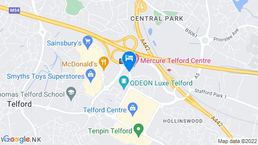 Mercure Telford Centre Hotel Map