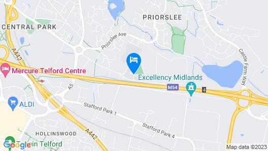 Telford University Rooms Ironbridge Map
