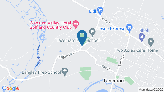 Wensum Valley Hotel Golf & Country Club Map