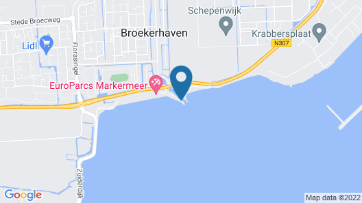 Exclusive Recreation Villa With Beautiful Views Over the Markermeer Map