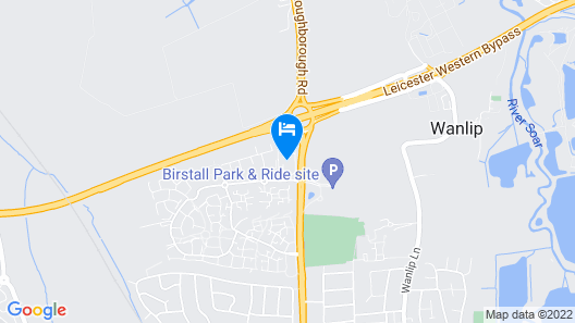 ibis budget Leicester Map