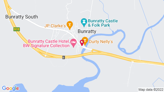Bunratty Castle Hotel, BW Signature Collection Map