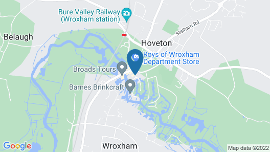 Hotel Wroxham Map