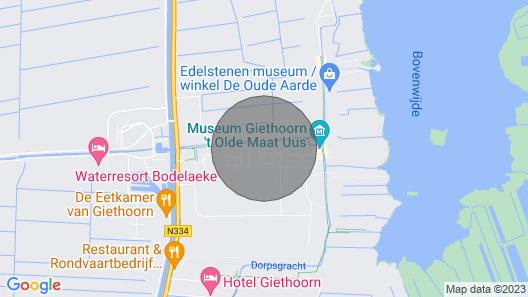 Overnachten in Hartje Giethoorn aan de Dorpsgracht Map