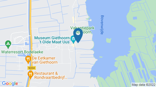 Quaint Farmhouse in Giethoorn With Private Garden Map