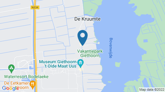Cozy House With Terrace in the Middle of Giethoorn Map