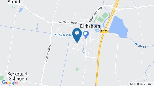 Holiday Home in Dirkshorn Near the sea and Beach Map