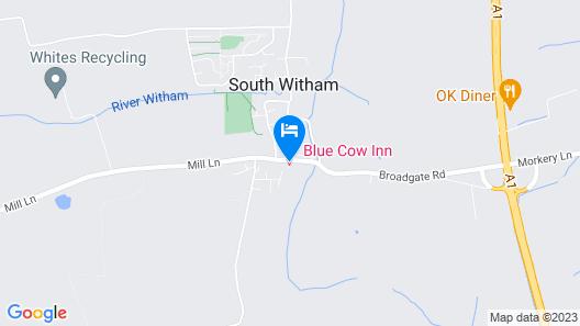 The Blue Cow Inn Map