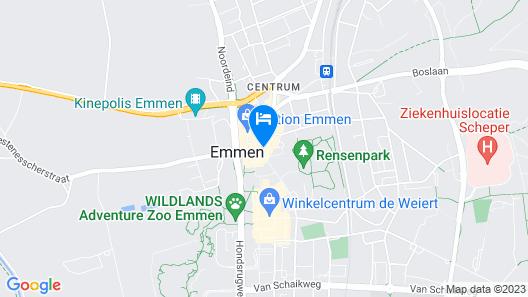 Stads-Hotel Boerland Map