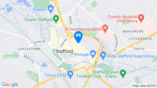 Vine, Stafford by Marston's Inns Map