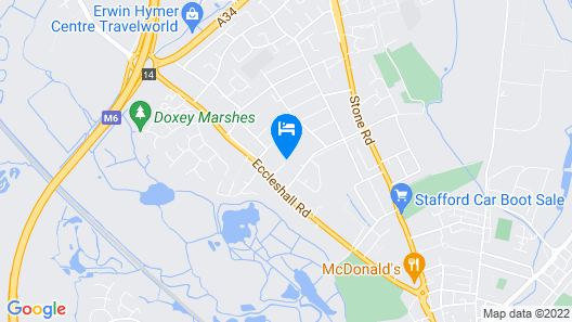 Best Western Stafford M6/J14 Tillington Hall Hotel Map