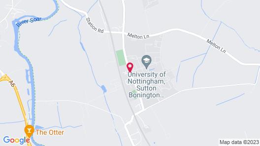 Bonington Student Village - Campus Accommodation Map